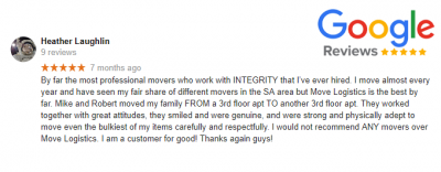 google review for residential moving service