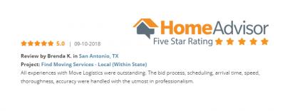 Homeadvisor review for san antonio relocation company