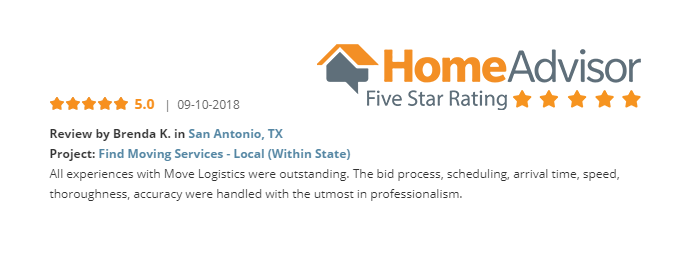 Homeadvisor review for san antonio relocation company