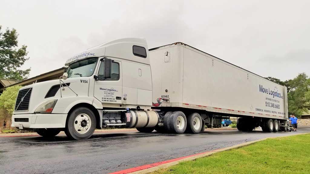 Texas moving company truck