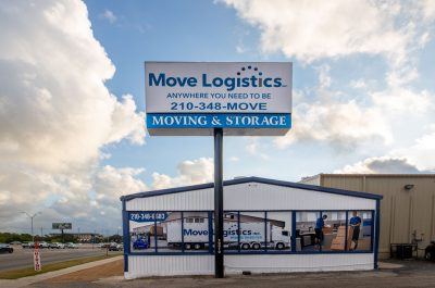 store front of San Antonio Texas moving and relocation company