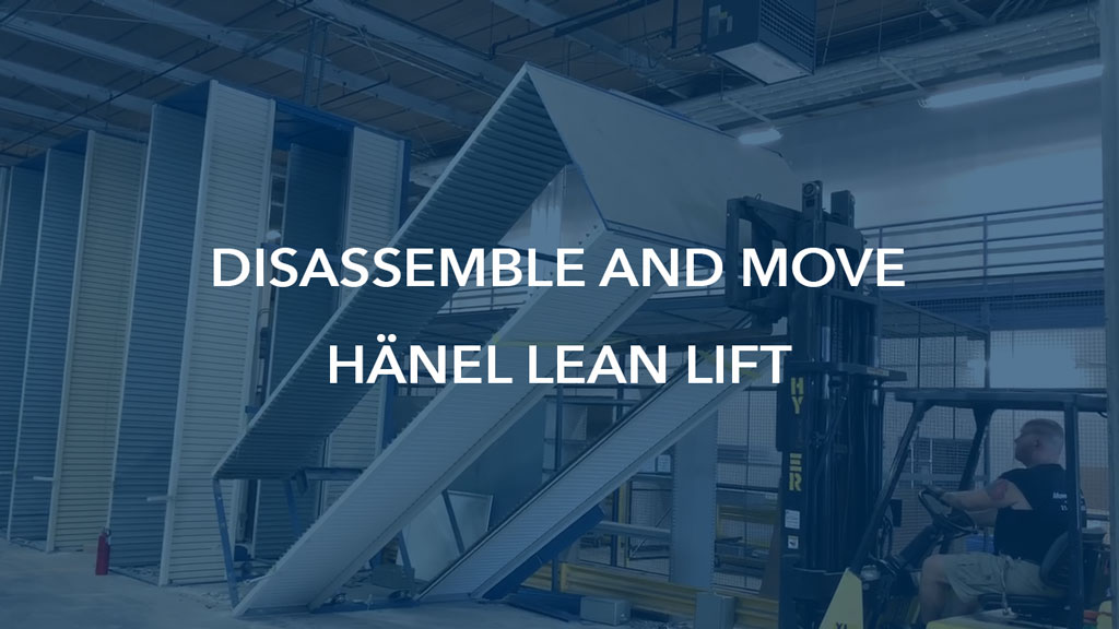 Commercial Movers Company Disassemble and Move Hänel Lean Lift