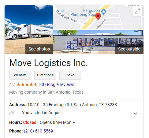 Safe relocation compnay reviews on google maps