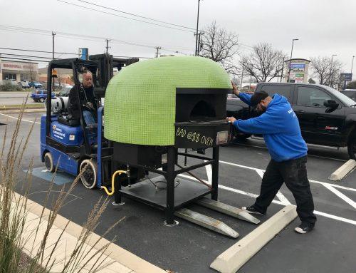 Moving Urban Brick heavy duty pizza ovens!