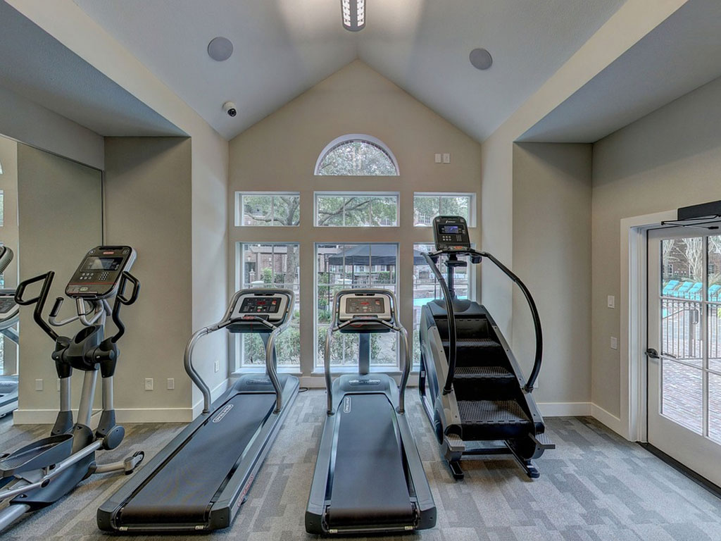 home gym treadmill and stair climber
