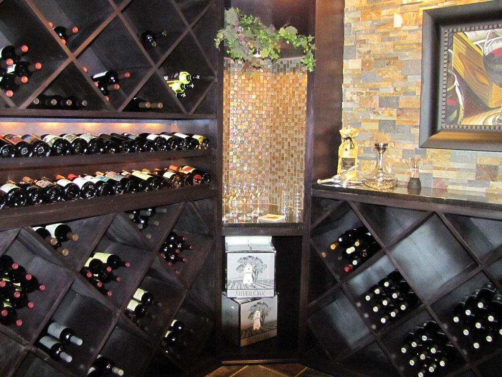 Wine Cellar bottles of wine